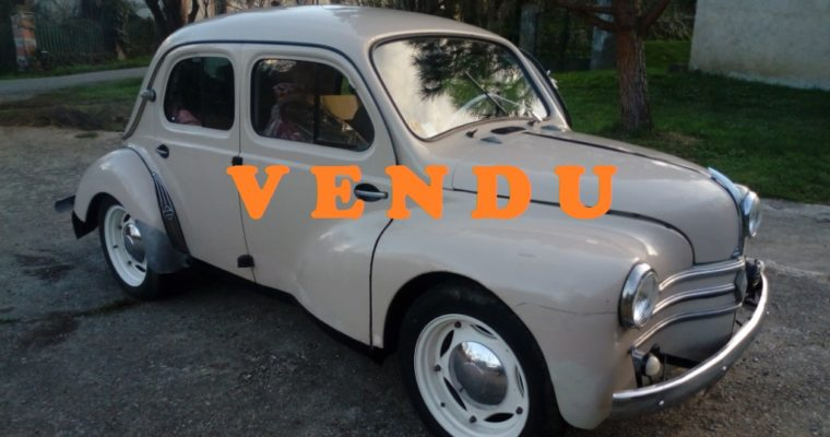 Renault 4cv Affaire de 1957