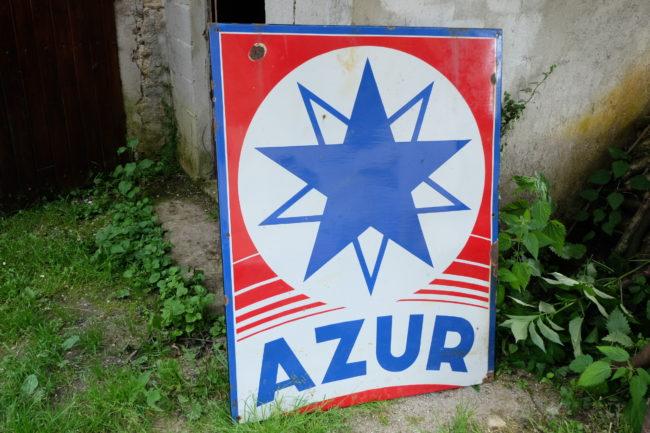 Plaque émaillée Azur