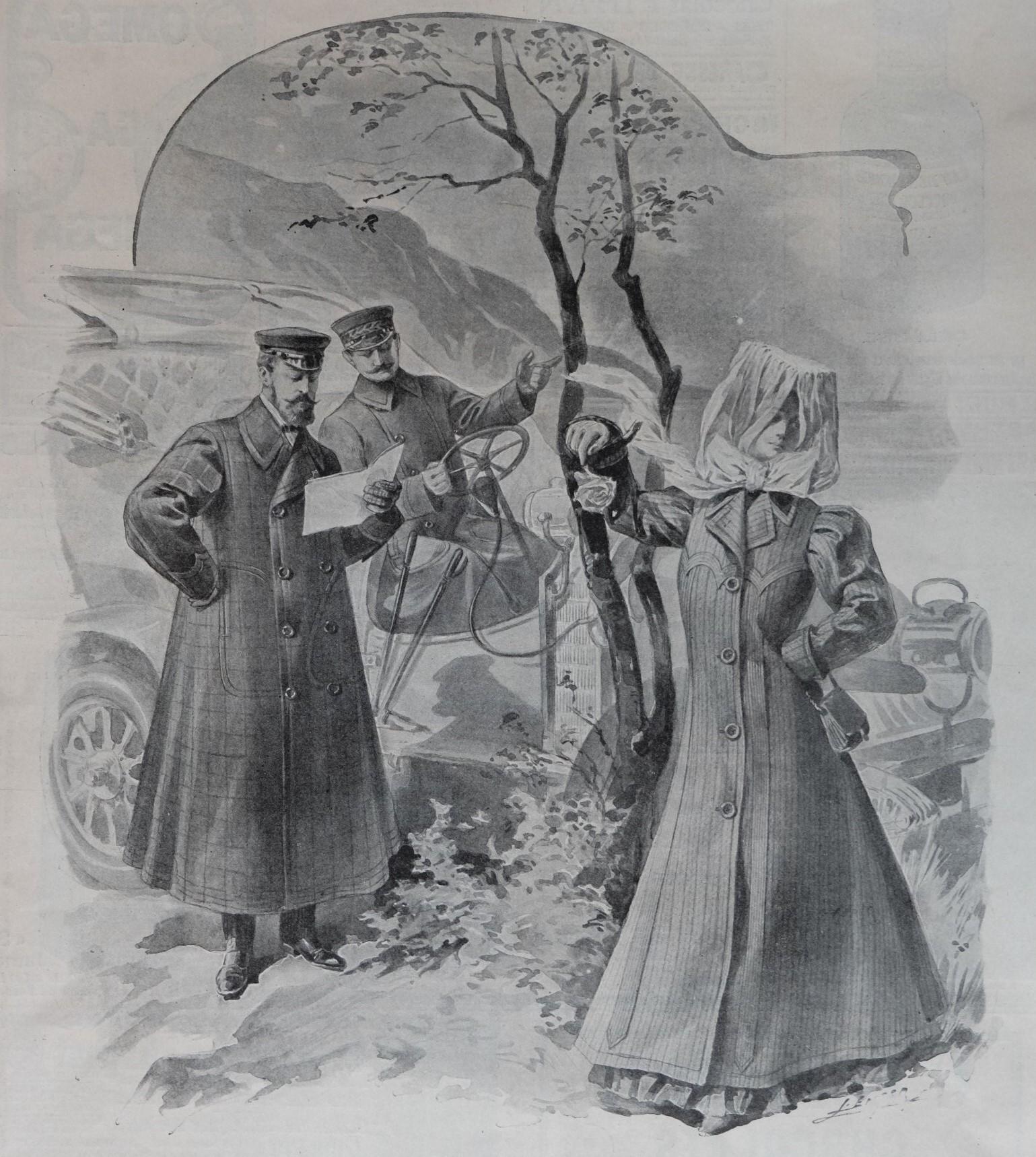 La vie de chauffeur en 1906