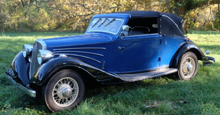 Simca Fiat 11cv Cabriolet – Janvier 1936