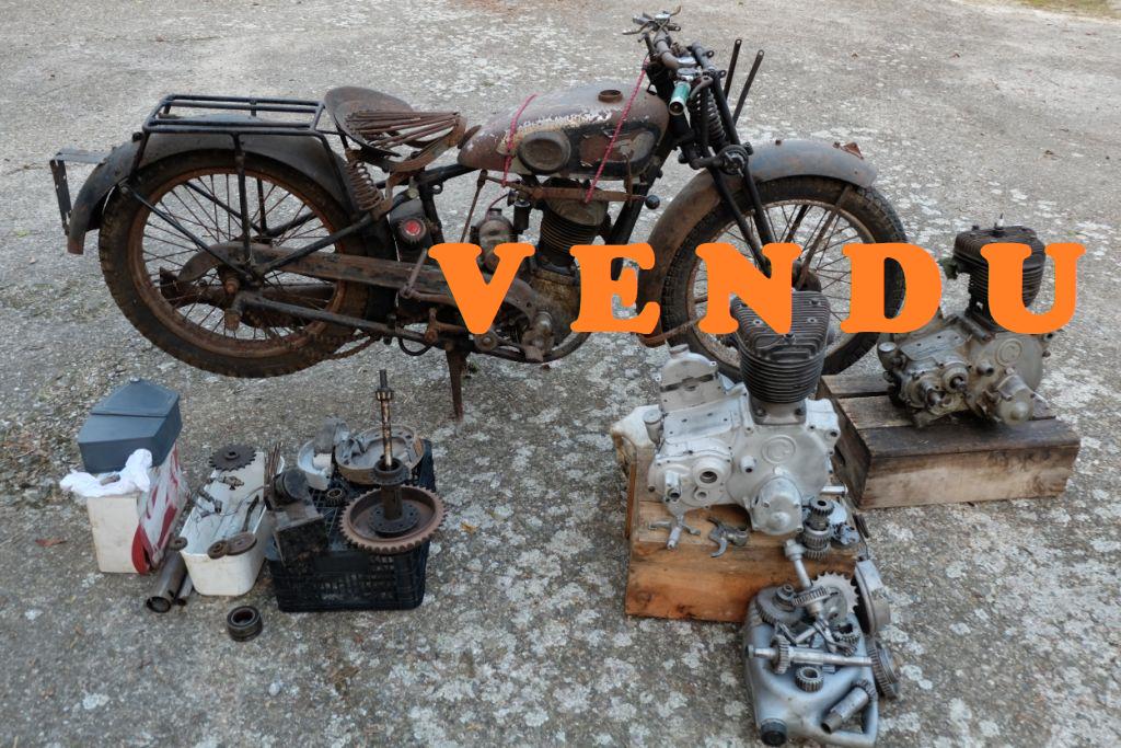 Projet de restauration Gillet Herstal 400L de 1932 «sortie de grenier» + 2 moteurs + lot de pièce – CGC