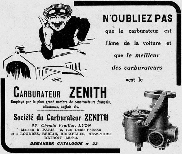 Quelques éclaircissements du professeur Zenith