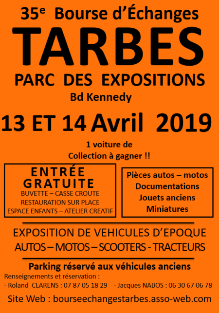La Grange Ariègeoise sera présente à Tarbes Parc des expositions les 13 et 14 Avril prochains pour la 35ième bourse d'échanges