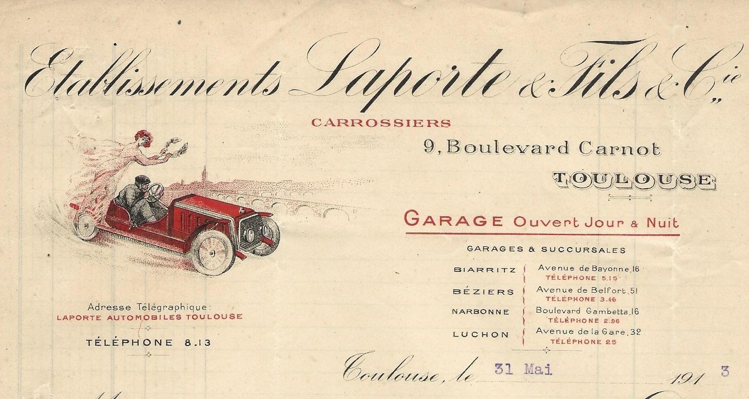 Garage Ouvert jour et nuit – 1913